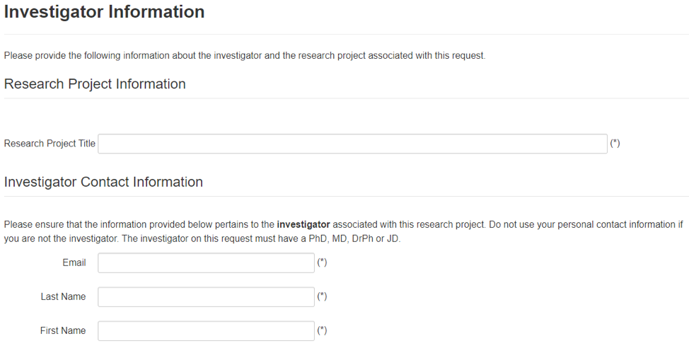 Investigator information