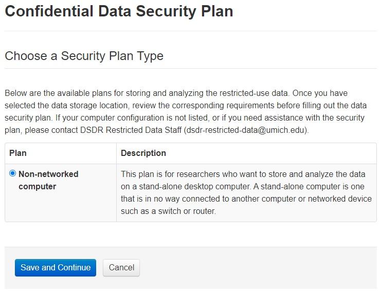 Confidential data security plan